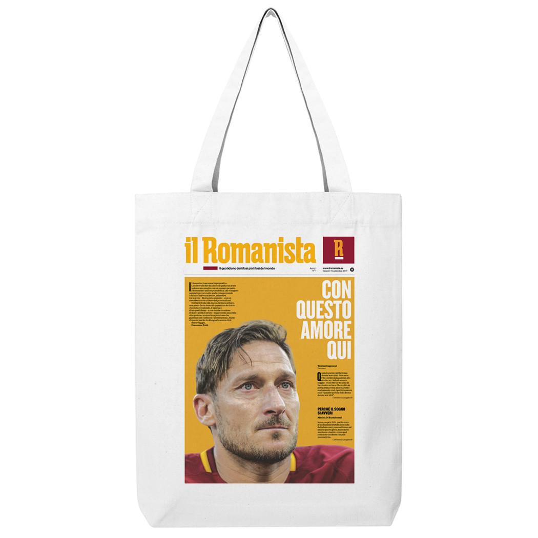 """Shopping bag """"Con questo amore qui"""" Totti - Il Romanista"""