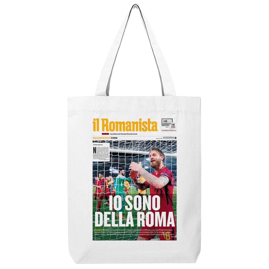 """Shopping bag """"Io sono della Roma"""", Roma-Barcellona Champions League - Il Romanista"""