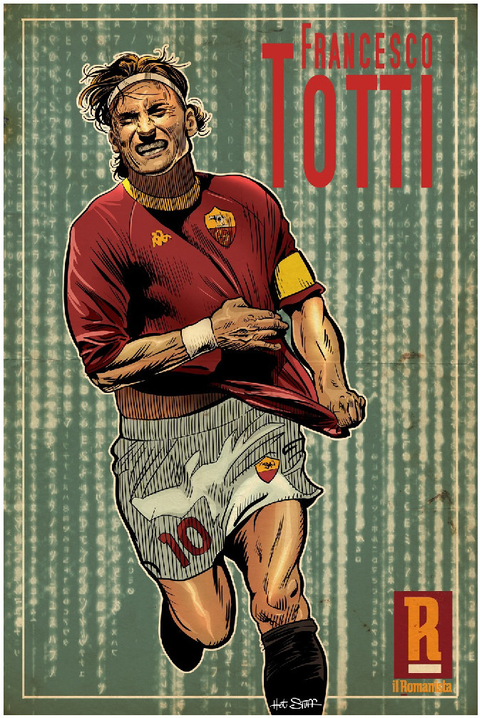 MAXI-POSTER Totti - 70x100 cm