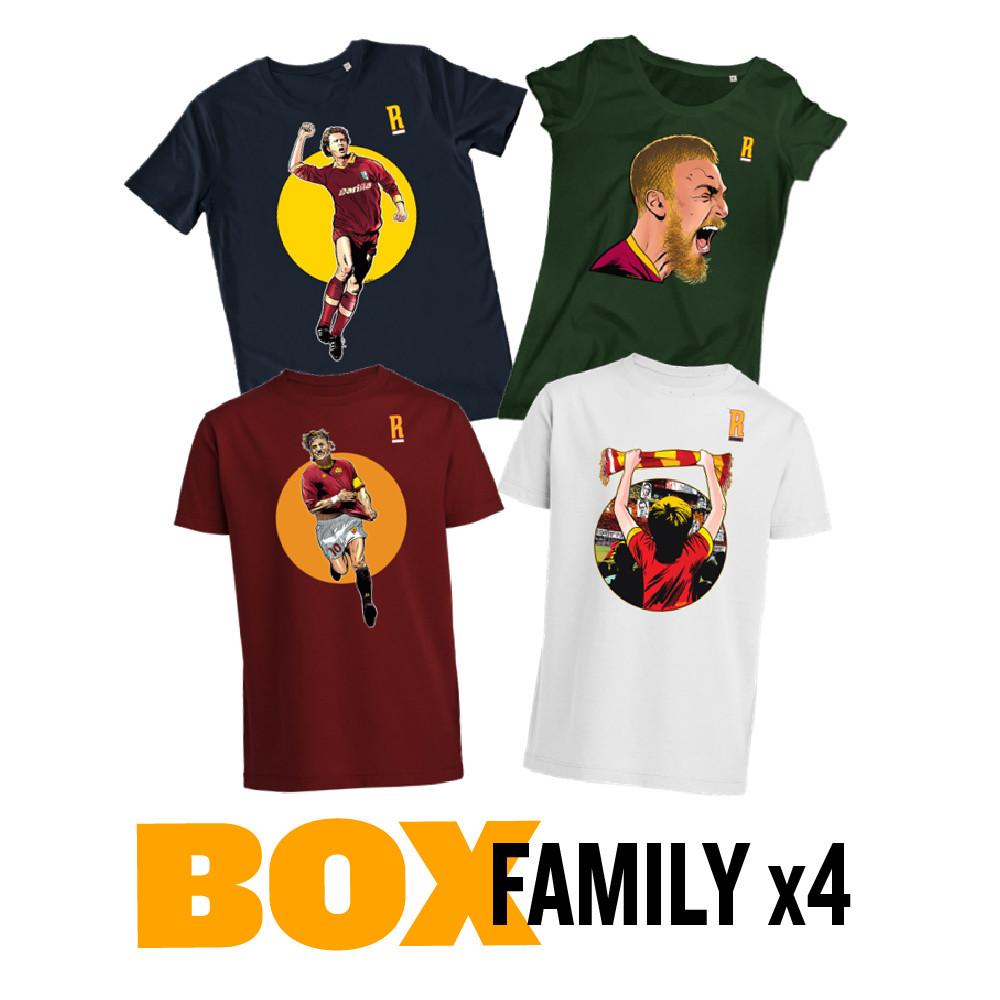 BOX - FAMILY x4 (1 t-shirt da uomo, 1 da donna, 2 baby a un prezzo speciale)