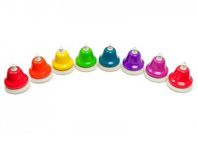 Набір дзвіночків діатонічний з кнопкою (8шт.)
