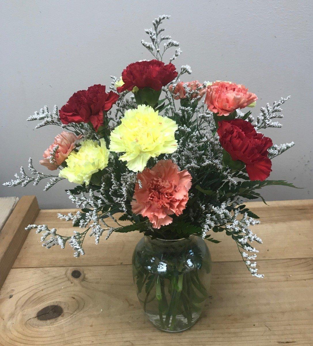 1ead9c3c00ba Assorted Carnation Bouquet