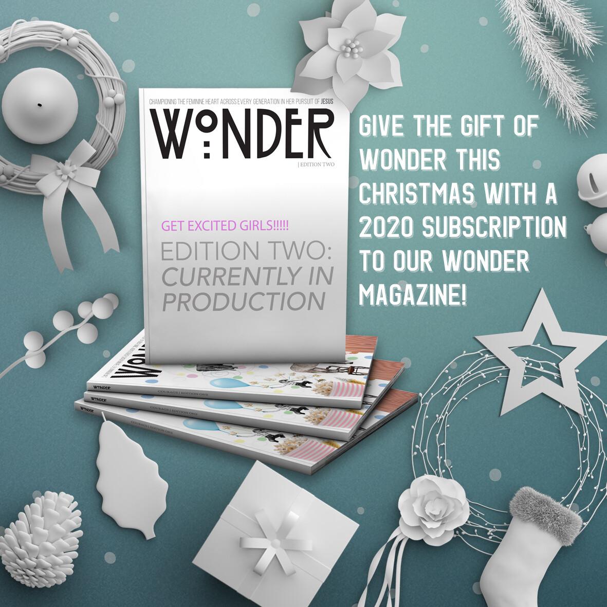 Wonder Magazine Gift Subscription