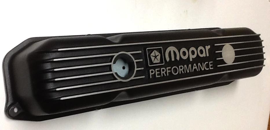 Black Cast B-RB Engine Mopar Performance Valve Cover