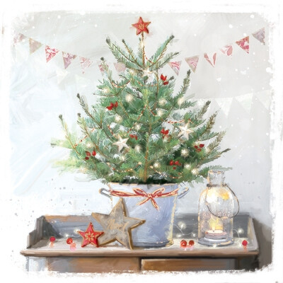 Noel & Tree (Foil) Christmas Cards