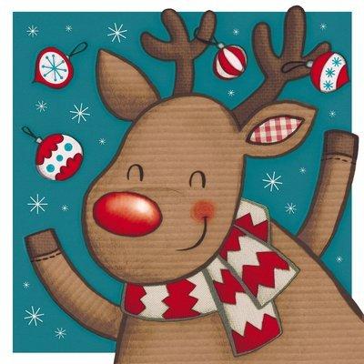 Playful Rudolph Cards