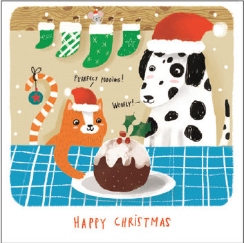 Purrfect Pudding! (Glitter) Cards