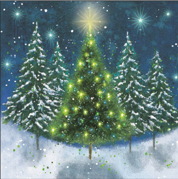 Tree of Light (Glitter) Cards