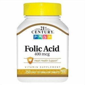 Folic Acid, 250 ct 00256