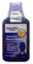 Mucus Relief Cold/Flu Throat Max Strength, 6 oz. 00105