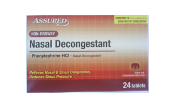 Nasal Decongestant Tablets, 24 ct. 00107