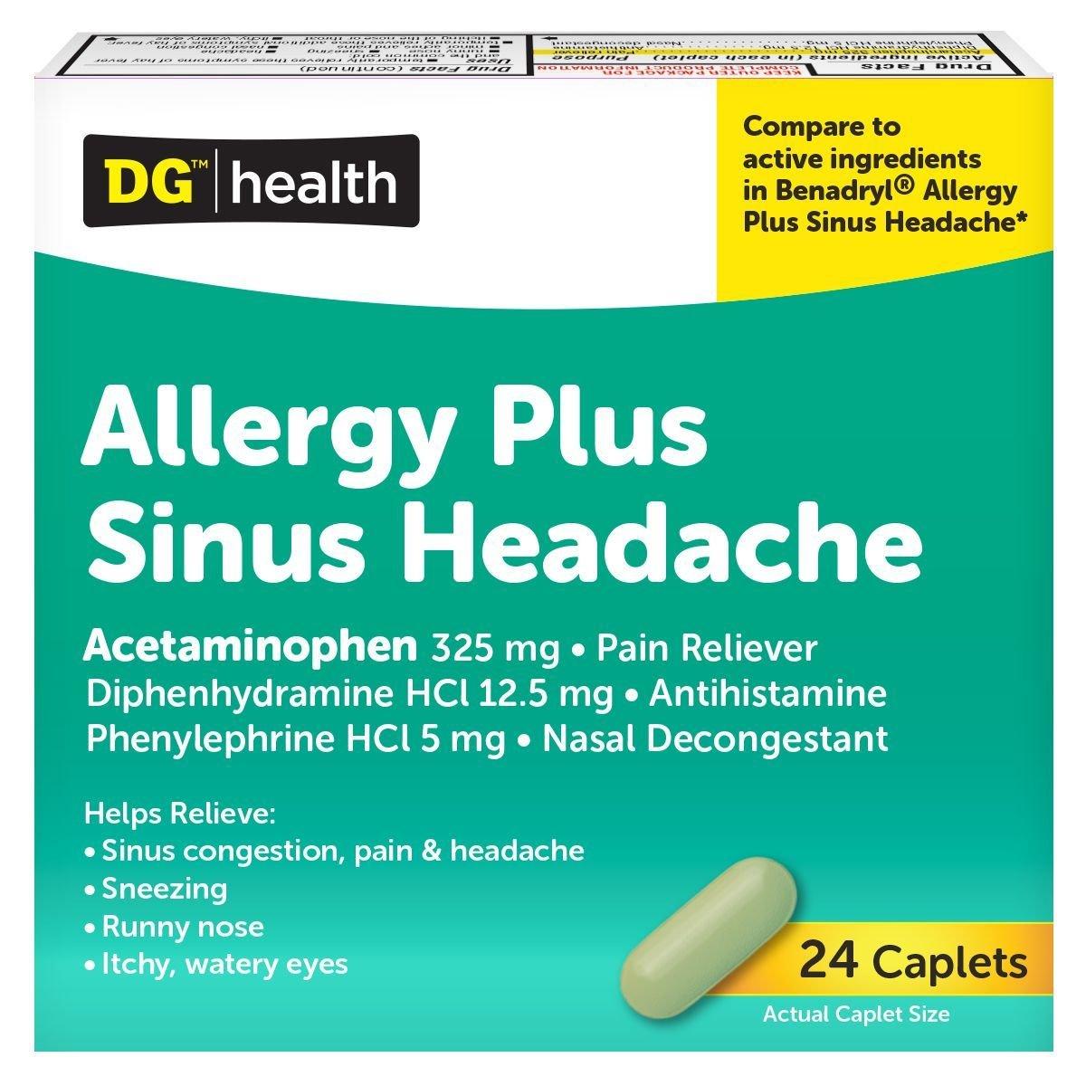 Allergy Sinus Plus, 24 ct. 00104