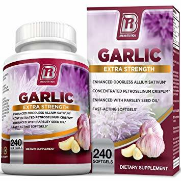 Garlic Capsules Odorless Extra Strength, 240 ct 00184