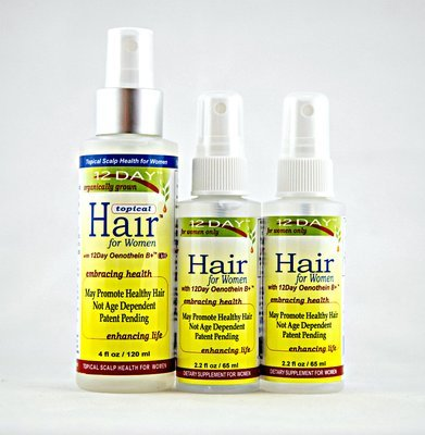 12Day Hair & 12Day Topical Hair Kit 4 month supply $35.00 per month