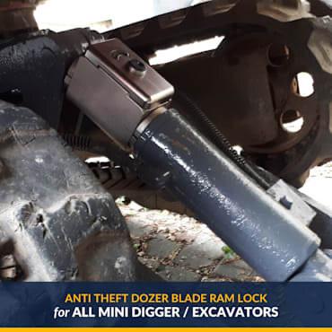 Block Stem to fit Mini Diggers/Excavators Dozer Blade Ram - Takeuchi Bobcat, Caterpillar, Hitachi and Volvo
