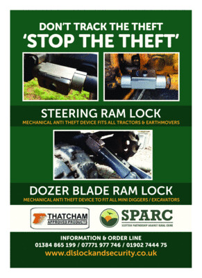 Steering & Dozer Blade Ram Lock - Fits Most Tractors & Mini Diggers ( Please check your ram diameter & fully extended length under description details)
