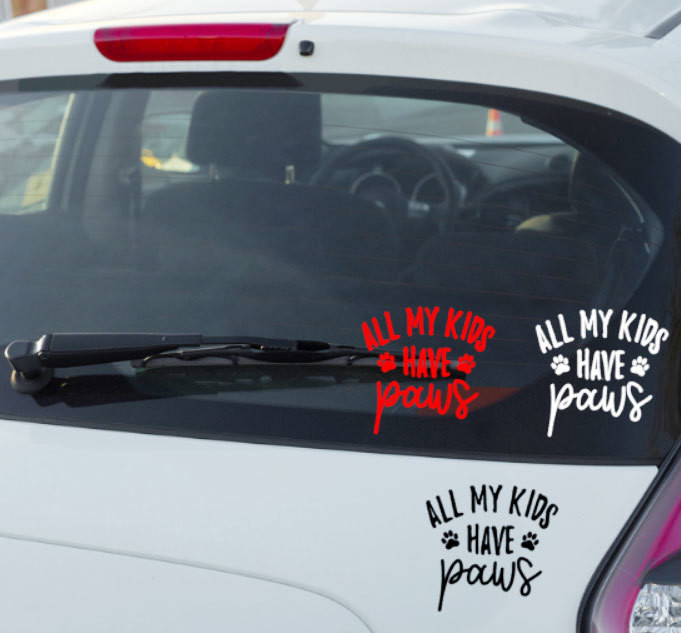 All of my Kids have PAWS Decal