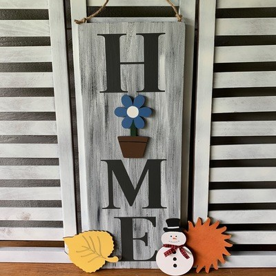 Seasonal Home Sign with 4 interchangeable season pieces