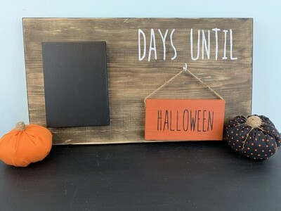 Days Until Interchangeable Sign w/ 10 Holidays