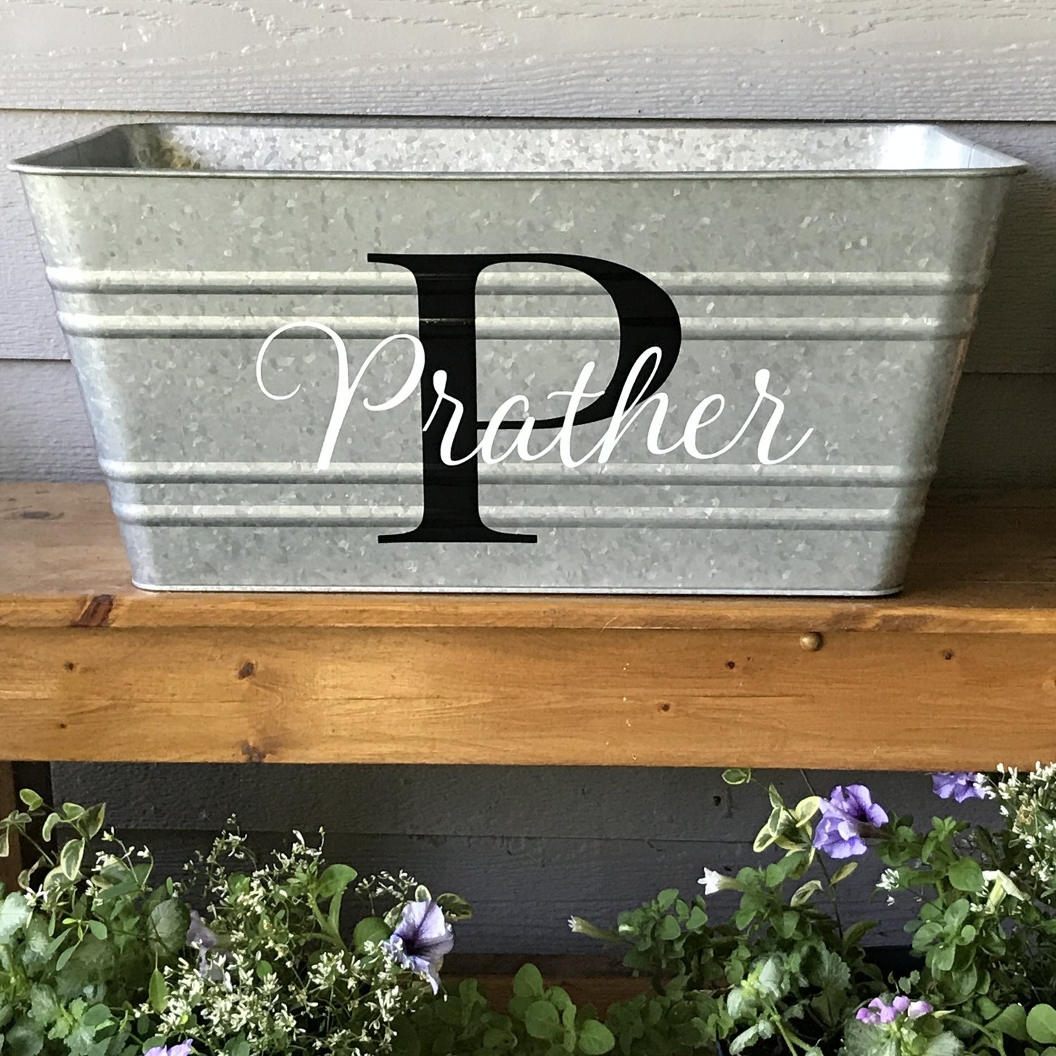 Rectangle Personalized Galvanized Bucket