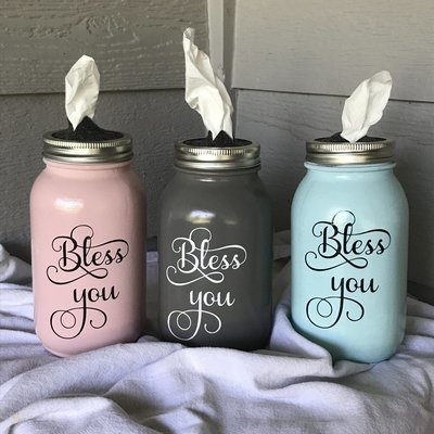 Bless You or Tissue for Your Issues Jars