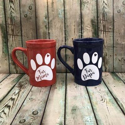 Fur Mama or Fur Papa Decal for mug (doesn't include the mug)