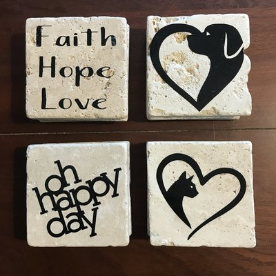 Personalized DECALS for Coasters