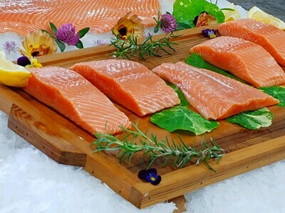 Wild King Salmon Portions (2-Pack)