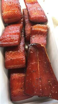 Brown Sugar Alder Smoked Wild King Salmon - (1 Pound)
