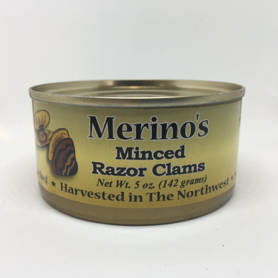 Merino's Minced Razor Clams