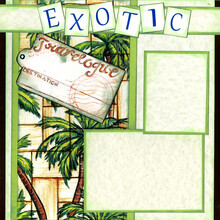 Exotic Places page layout kit