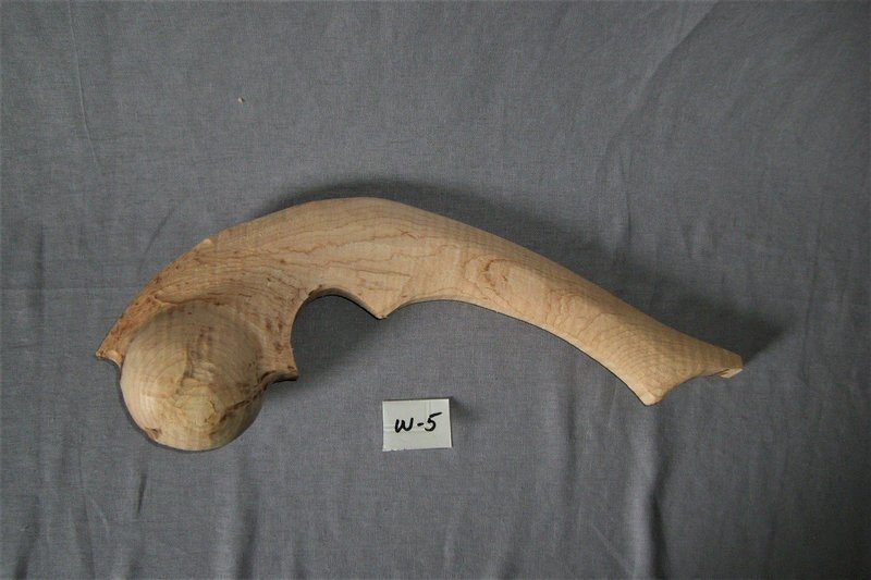 Great Lakes Curly Maple War Club; 17 1/2