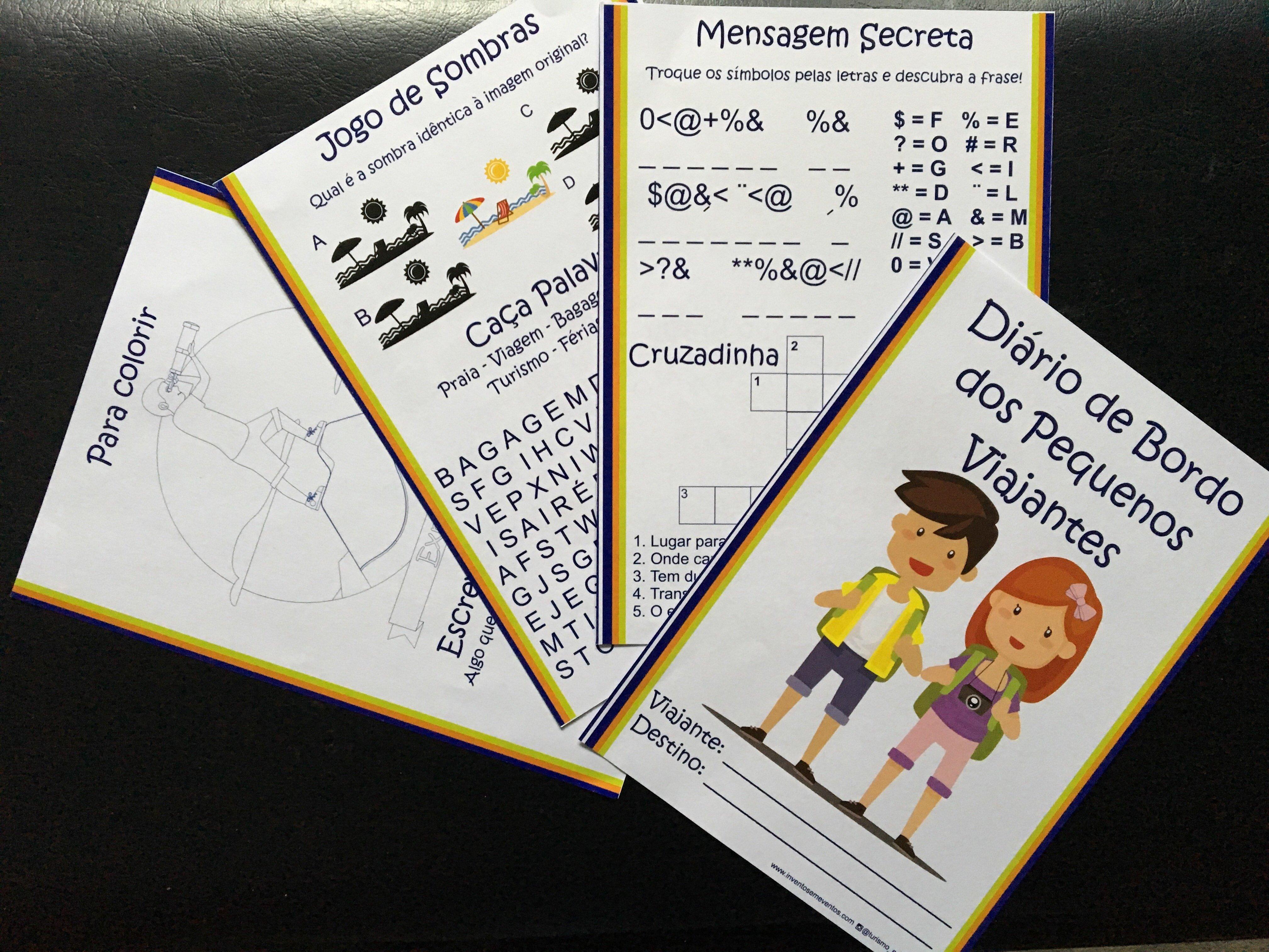 Kit de Livro de Passatempos para Crianças - Viagem