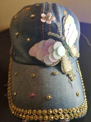 Butterfly  Denim Hat