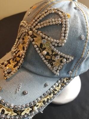 Light Leopard Bow hat
