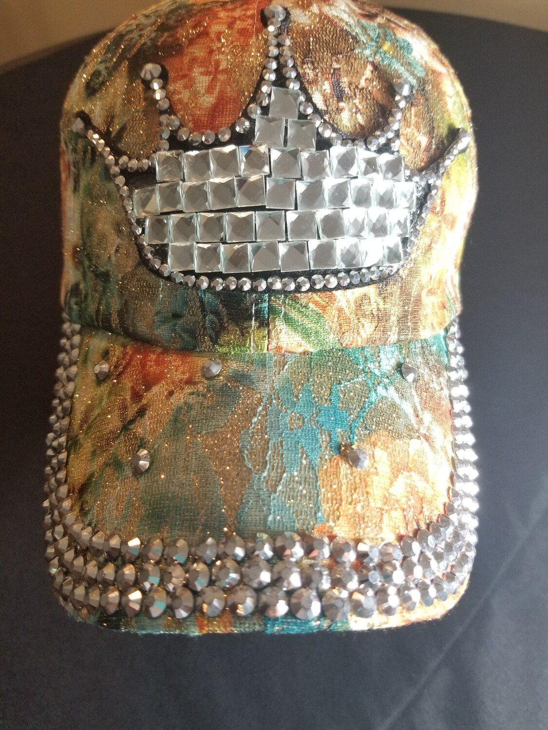 Crown Hat with orange colorful detail