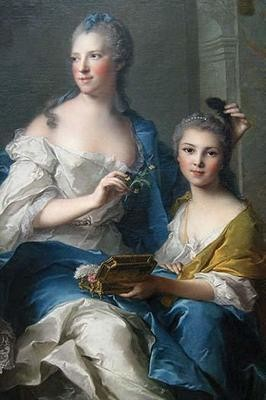 Madame Marsollier and Her Daughter, 1749 (Canvas Art)