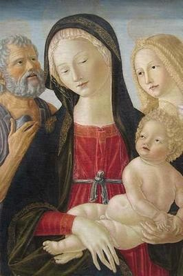 Madonna and Child with Saints Jerome and Mary Magdalene, (Canvas Art)