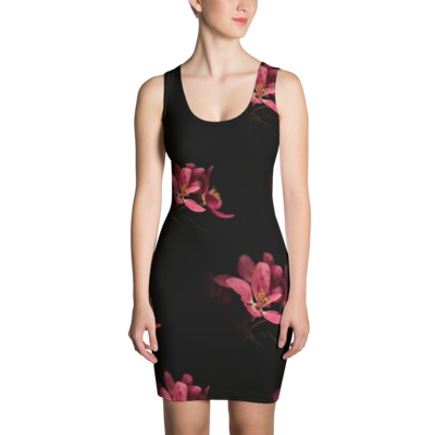 Plum blossom flowers - Bodycon Dress