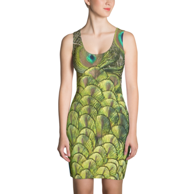 Peacock Bird - Bodycon Dress