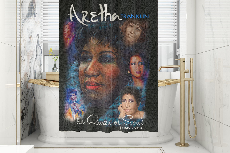 Aretha Franklin Shower Curtain/Mat Set 00002
