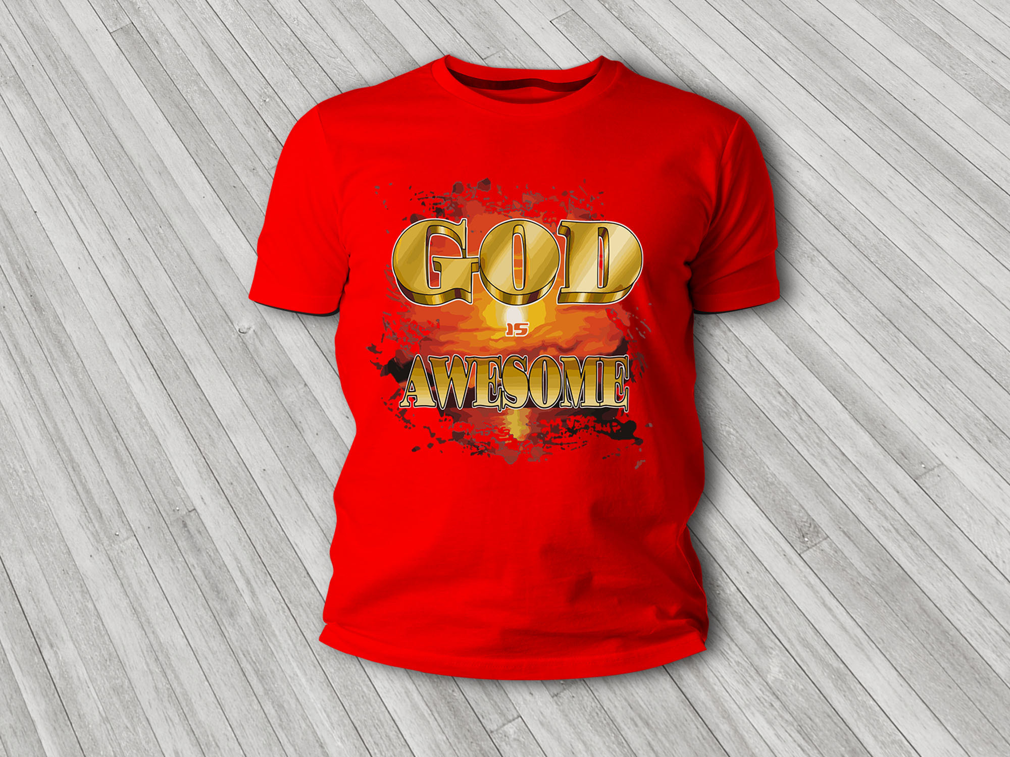 God is Awesome T-Shirt 00006