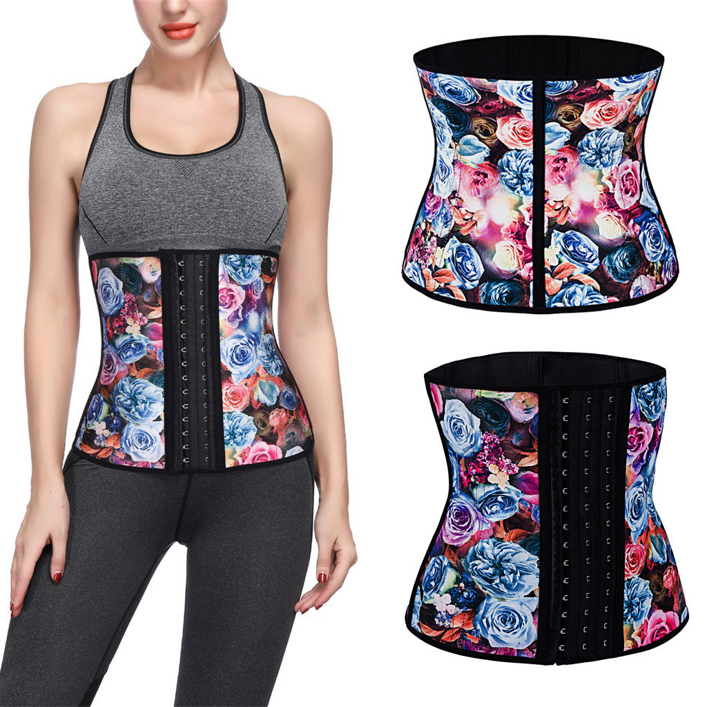 Underbust Printed Girdle Waist Trainer Corsets Body Shaper