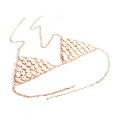Shell Retro Fashion Silver Bra