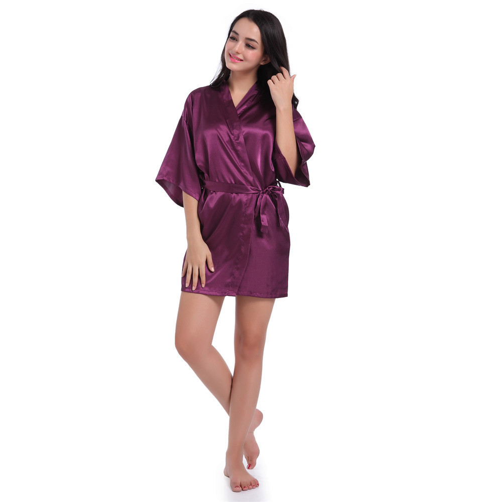 Pure Short Kimono Silk Robe