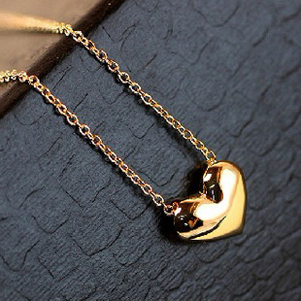 Chuncky Heart Pendant Necklace
