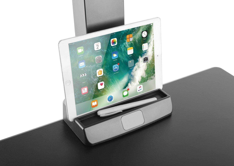 E-Lift S worksurface organiser for tablet and pen