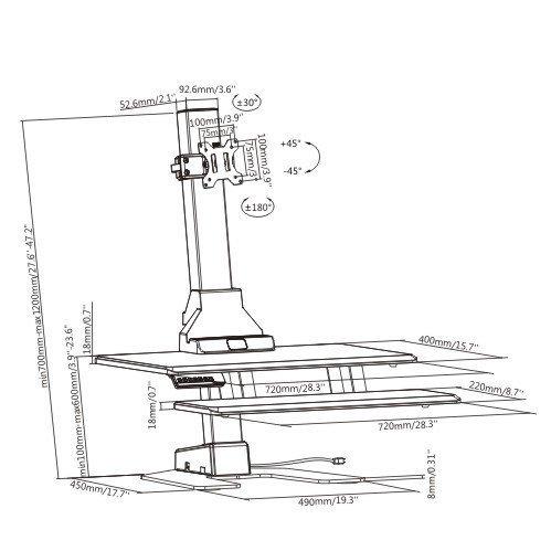 E-Lift S dimensions
