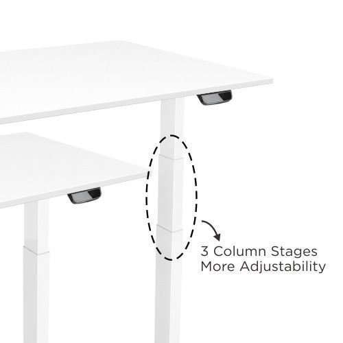 E-Desk column electric height adjustment