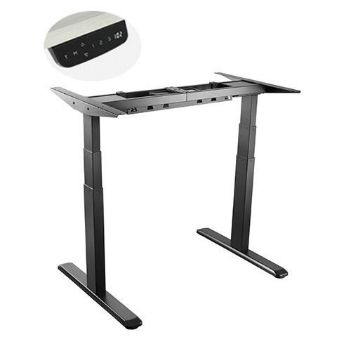 E-Desk frame graphite colour